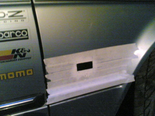Установка боковых поворотников на BMW E30
