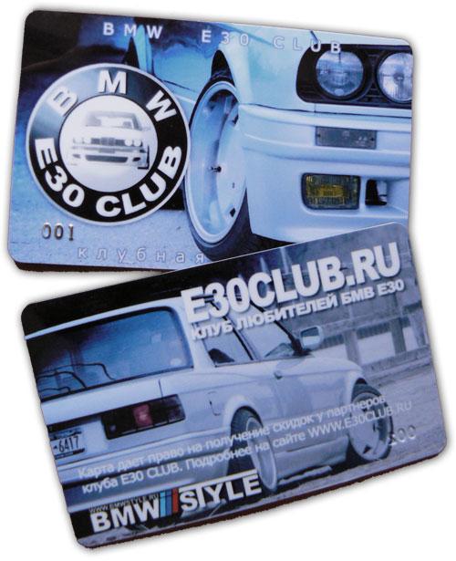 BMW E30 Club Card членская карта е30 клуба