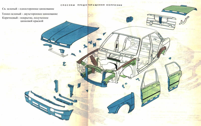 Схема частей кузова BMW E30