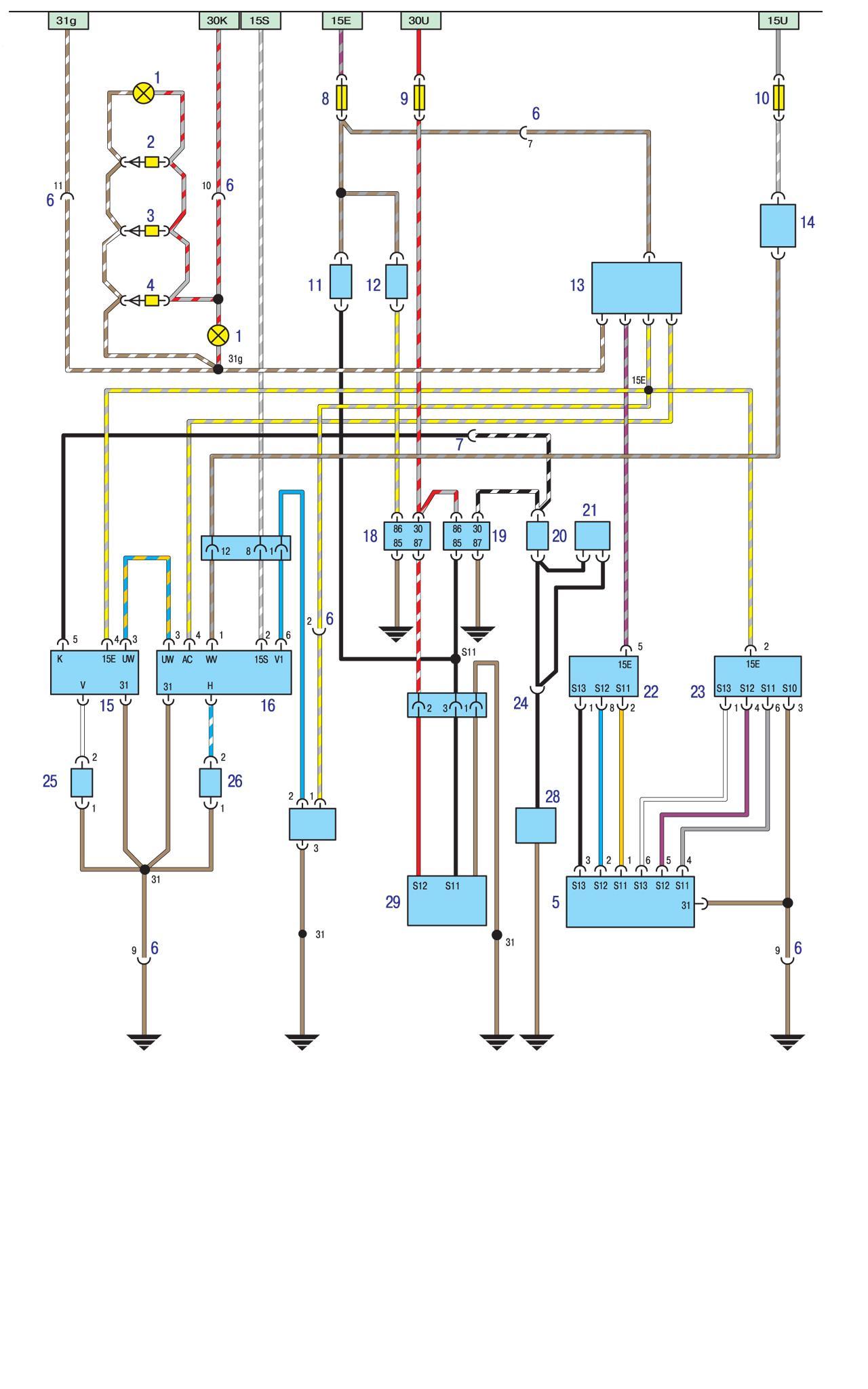 реле бензонасоса бмв е34 м40 схема