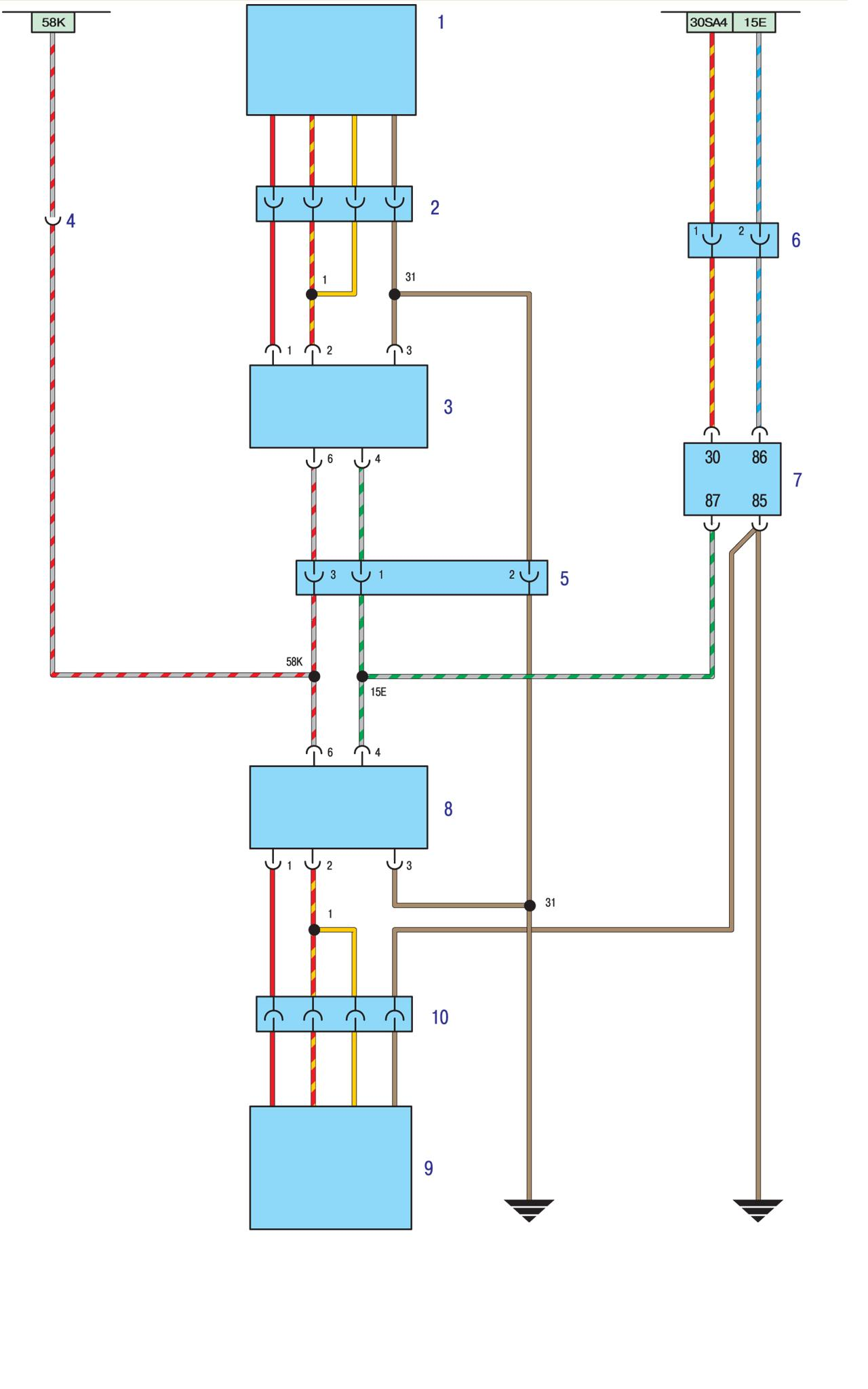Электро схема проводки БМВ Е30 - Обогреватели сидений